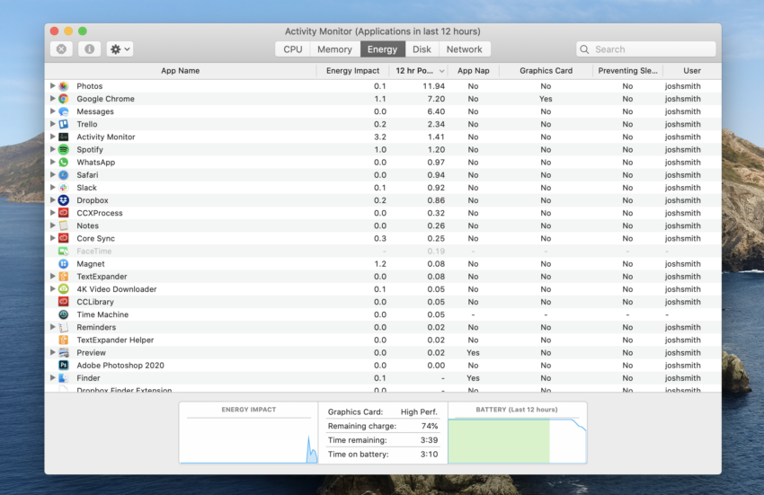 Use Activity Monitor to see what is causing your bad MacBook Pro battery life.