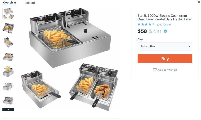 Commercial Grade Deep Fryers