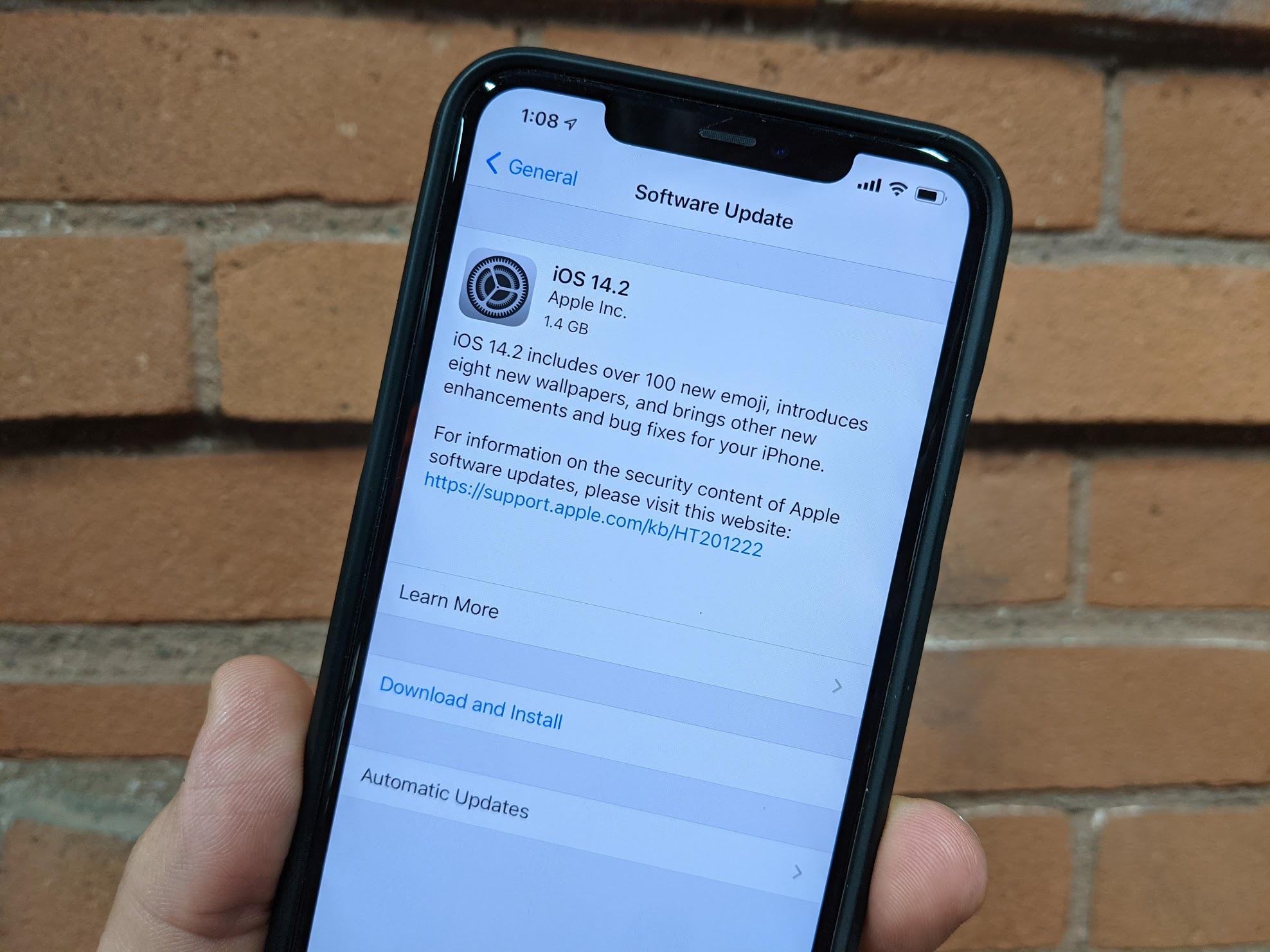iOS 14 2 update 2
