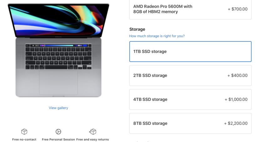 new macbook pro release date storage options