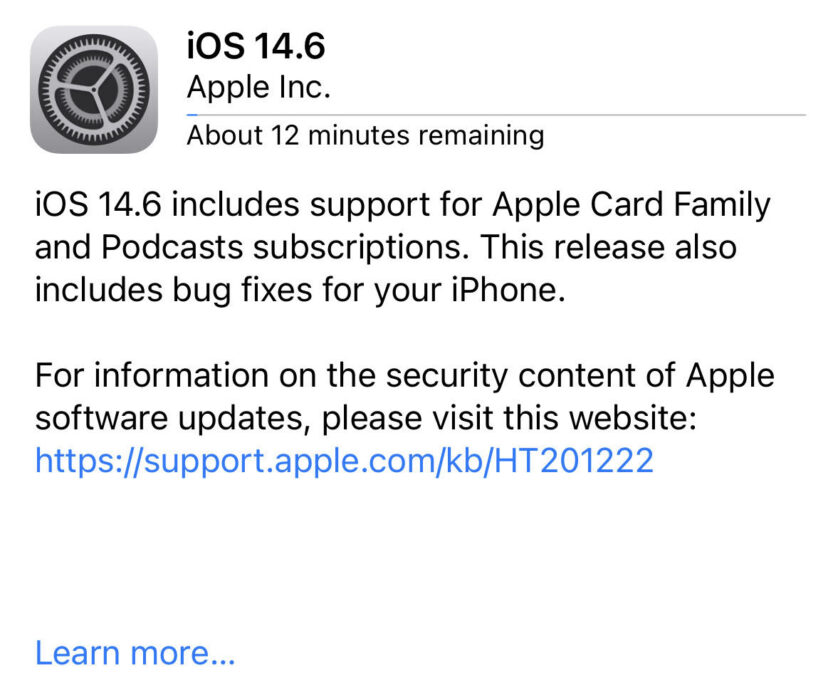 Install iOS 14.6 for Better Security