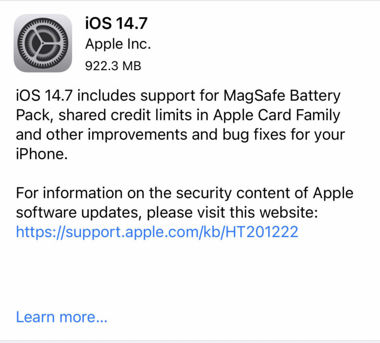 Install iOS 14.7.1 for Better Security