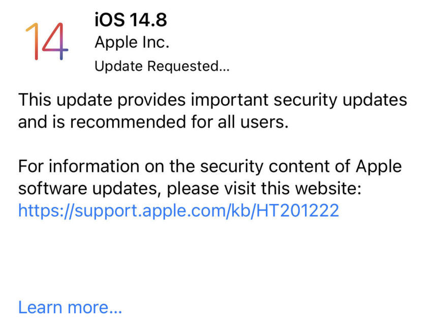 Install iOS 14.8 for Better Security