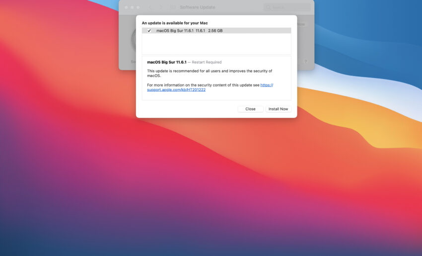 Install macOS Big Sur 11.6.1 for Better Security