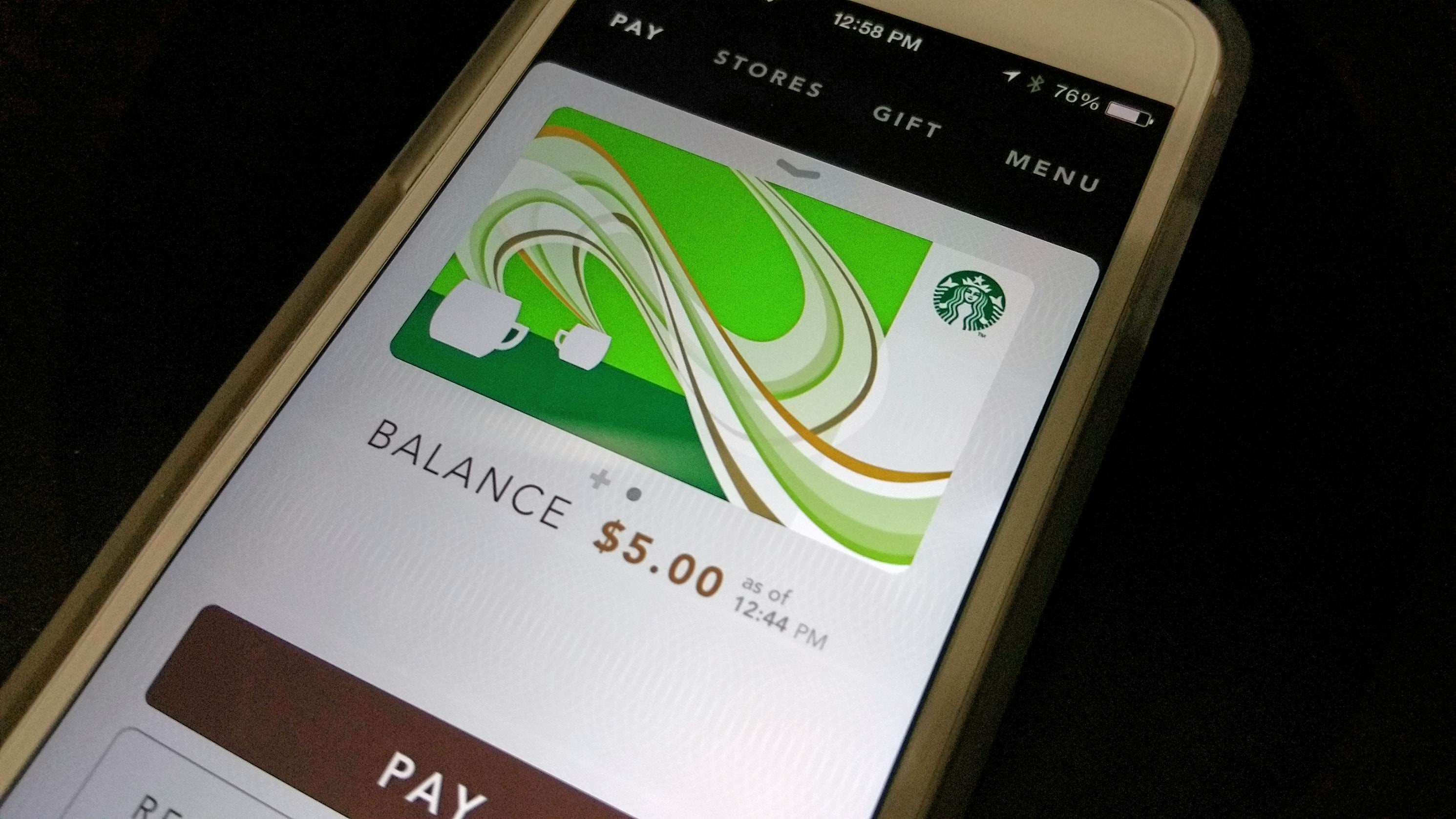 starbucks app how to add gift card