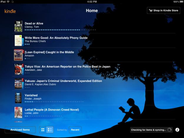 Amazon Kindle iPad App