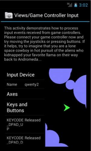 Android 4 Ice Cream Sandwich game controller