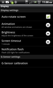 Android Screen Options