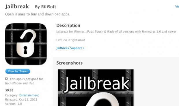 App Store iPhone 4s Jailbreak