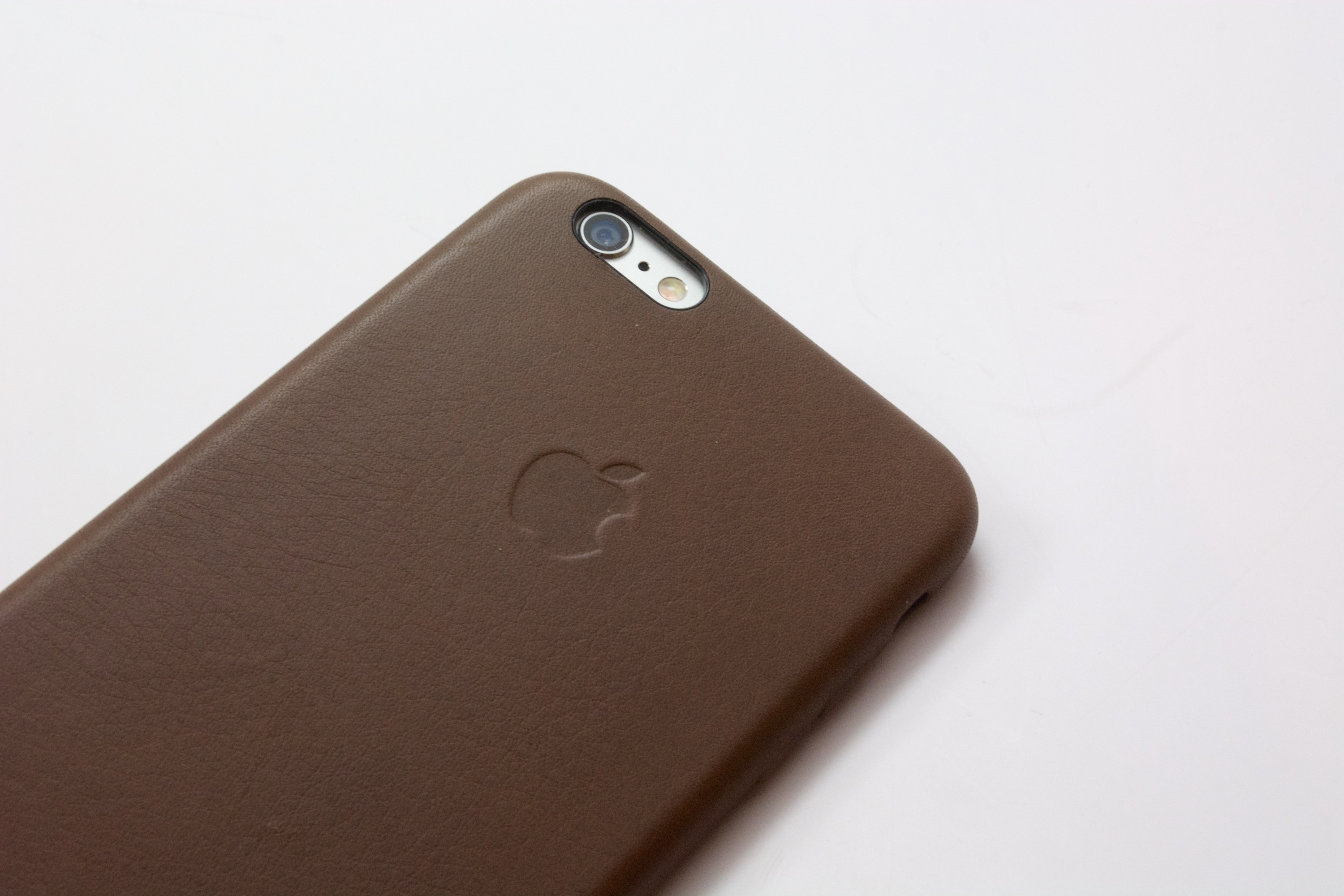 The iPhone 6 Plus leather case from Apple is a great fit.