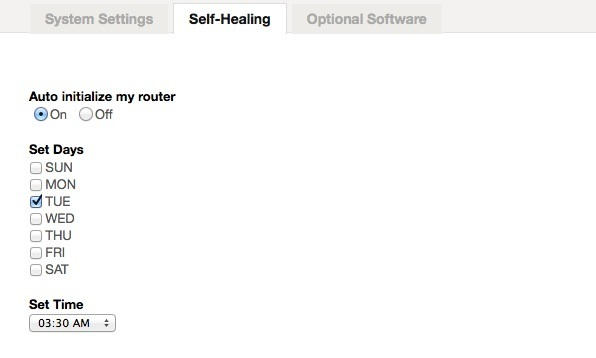 Belkin router problems started with a self heal option.
