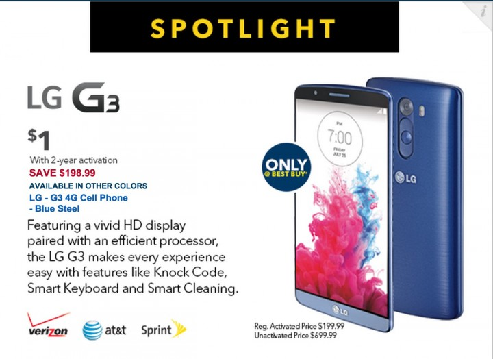 LG G3  and iPhone 6