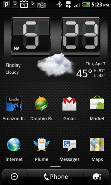Android Homescreen with Widgets