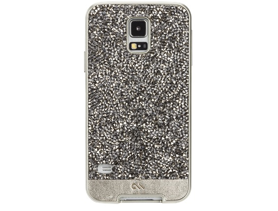 Add crystals and leather to the back of your Galaxy S5.