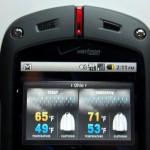 Casio G'zOne Commando Review - Weather Widget