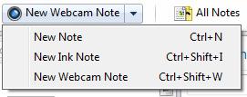 Evernote Webcam note