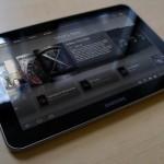 Samsung Galaxy Tab 8.9 glossy screen