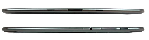 Samsung Galaxy Tab 8.9 Top and Bottom Edges
