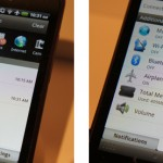 HTC Rhyme Notification Tray