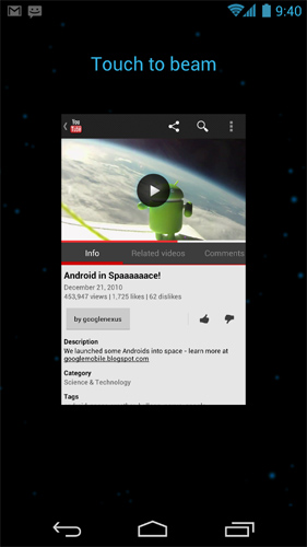 Android 4.0 Beam
