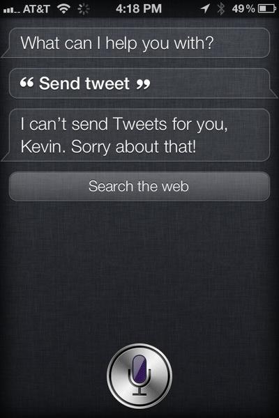 Siri can't Tweet yet