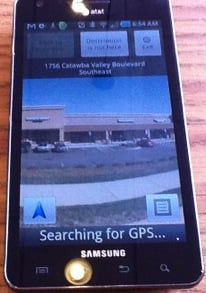 Samsung Infuse 4G with Android Navigation