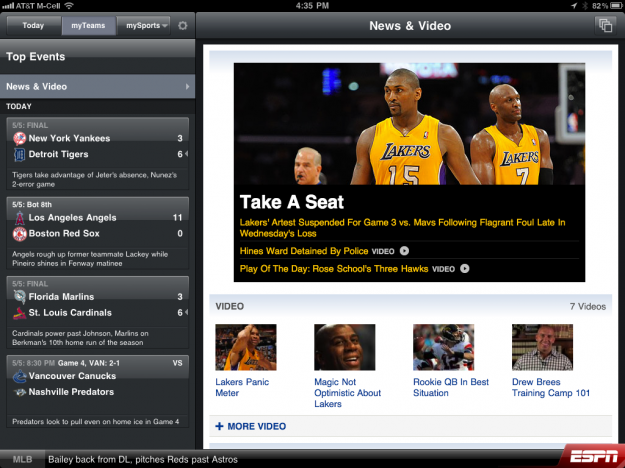 ESPN ScoreCenter XL
