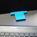 Logitech Tablet Keyboard Case base slides out for different angles
