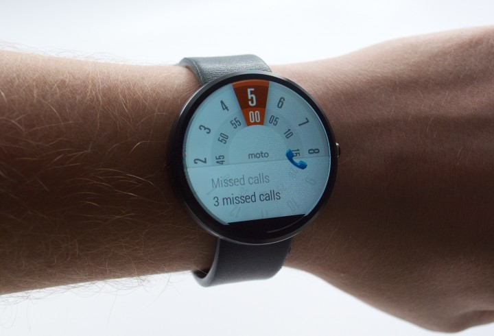 The Moto 360 shows any notification that is on your Android phone.