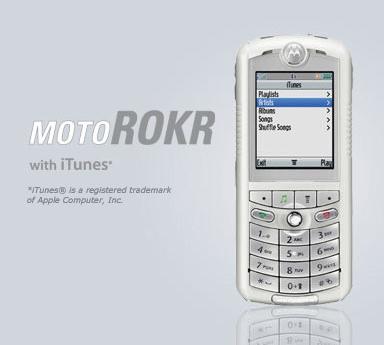 Motorola - MotoROKR with iTunes