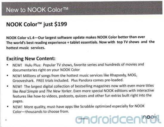 Nook Color gets Hulu