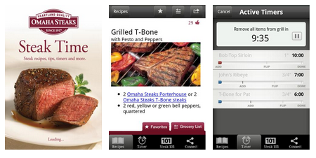 Omaha Steaks Steak Time - Android Grilling App