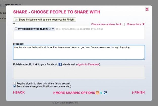 Pogoplug Sharing Feature