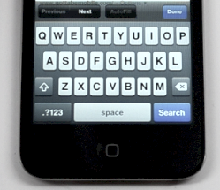 iPhone keyboard tip