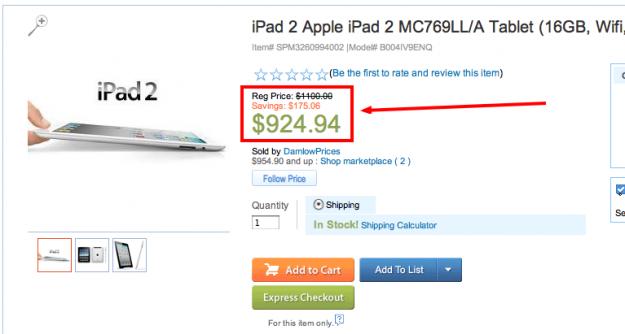 Sears iPad ripoff third party