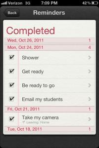 Siri Reminders