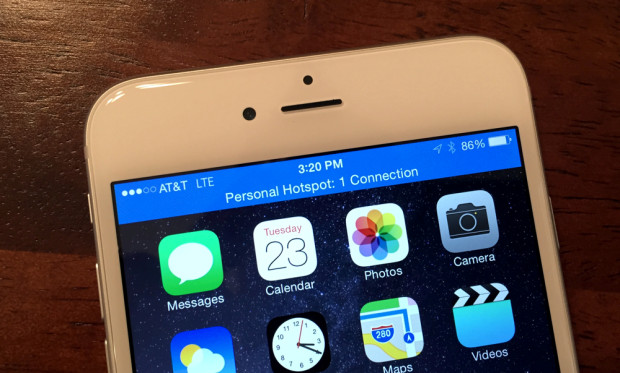 No hotspot or tethering options on the Straight Talk  iPhone 6.