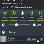 TouchWiz Notification Tray