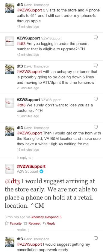 Verizon issues iPhone 4S