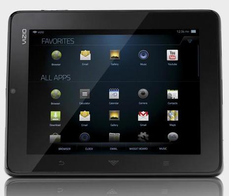 Vizio Android Tablet display