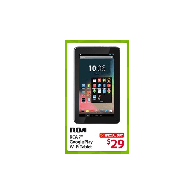 RCA 7-inch Google Play Tablet Black Friday Deal at Walmart