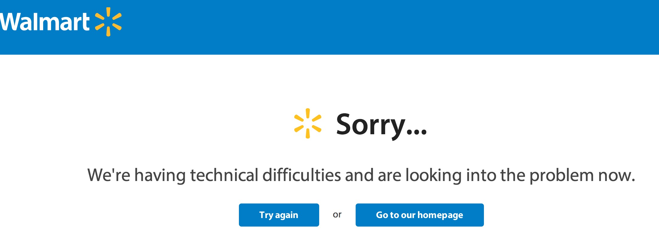Many users cannot get into the Walmart Black Friday 2014 deals at this time.