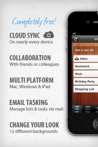 Wunderlist app cloud