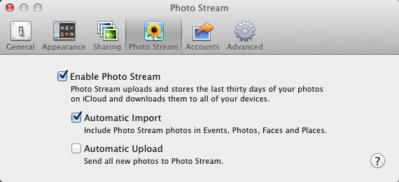 Turn Off Automatic Upload in iPhone or Aperture Preferences