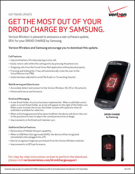 Droid Charge Update