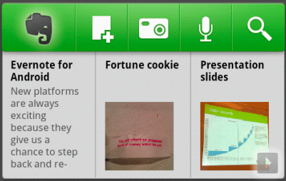 evernote android widget