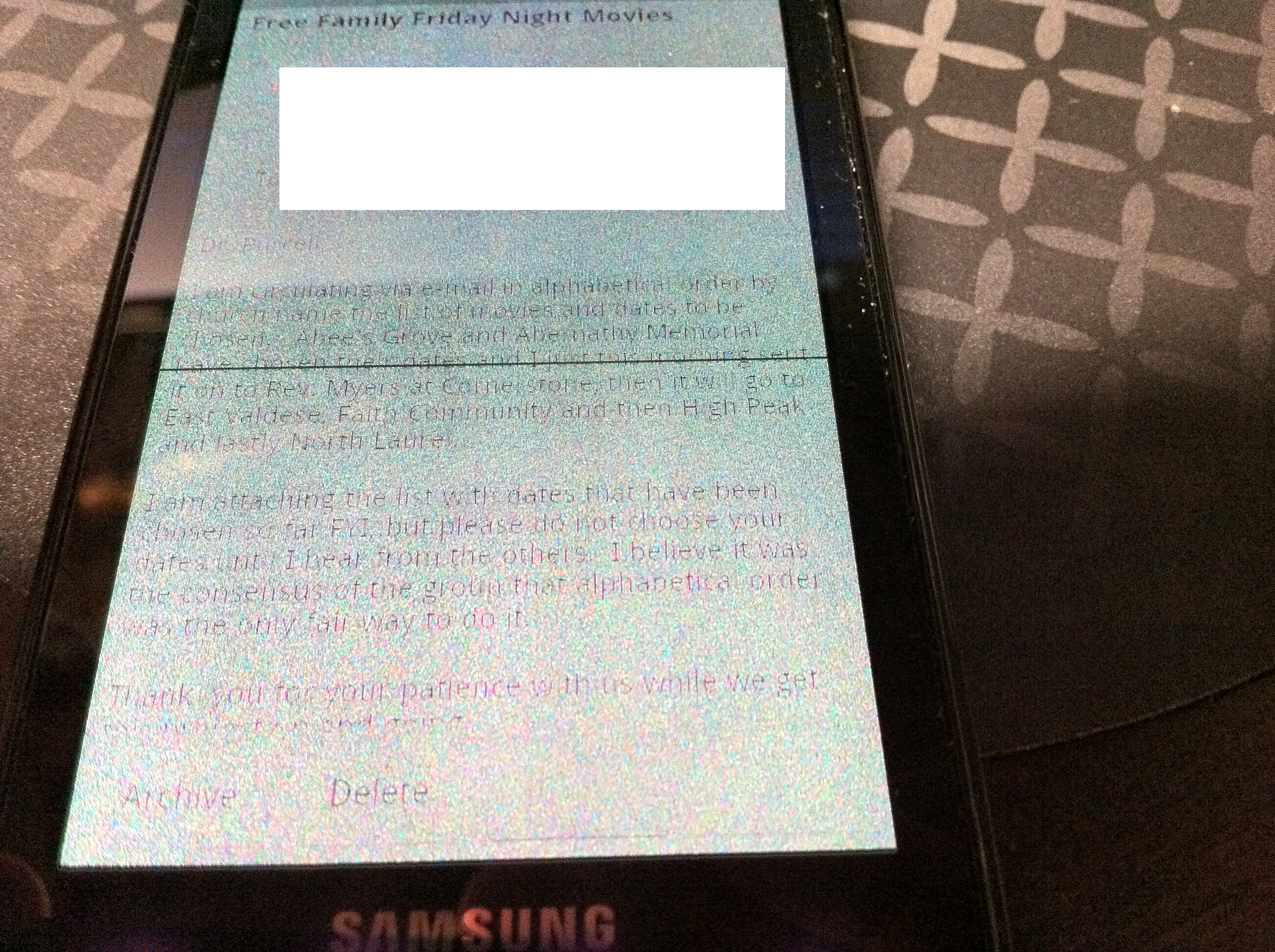 Samsung Fascinate with Screen Problem