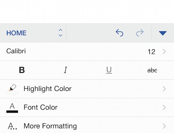 formatting window in word for iphone