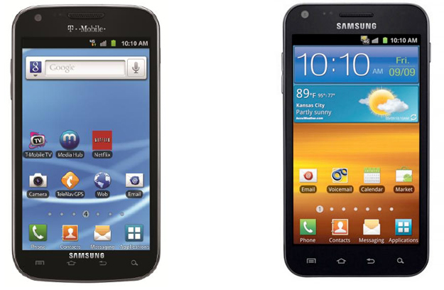 T-Mobile and Sprint Galaxy S II smartphones compared