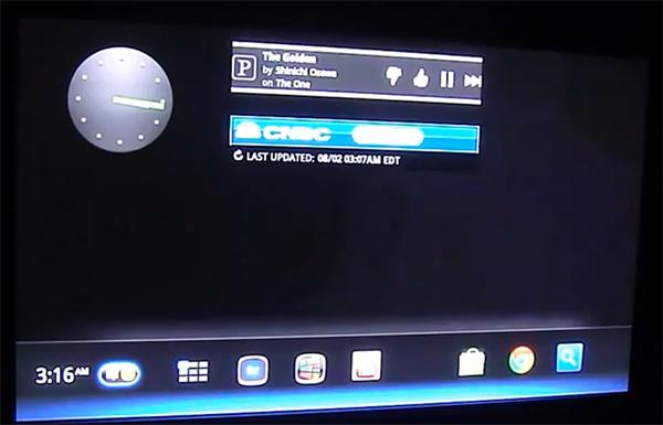 Google TV beta Honeycomb Home Screen